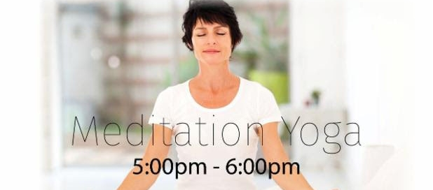 Meditation and Yoga class on Saturday April 9th from 5-6pm